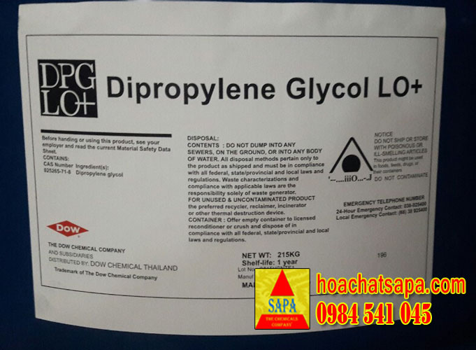 Dung môi Dipropylene Glycol (DPG LO+)