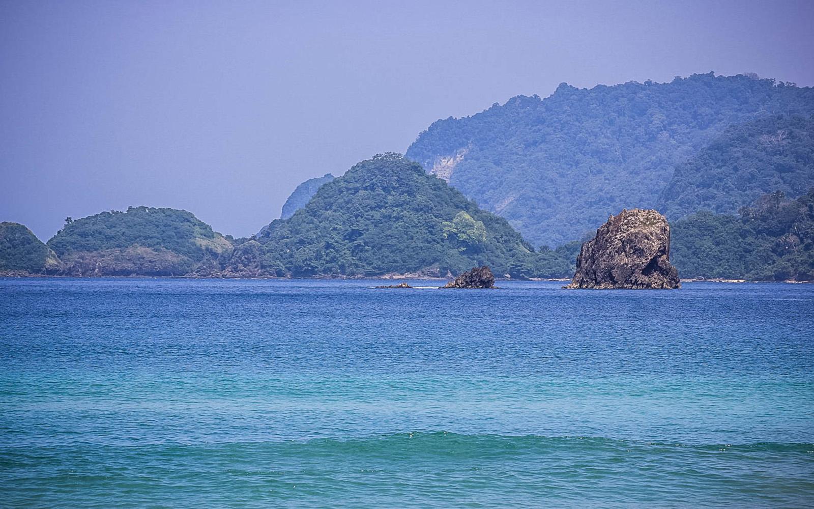 Beautiful beach of banyuwangi pulau merah