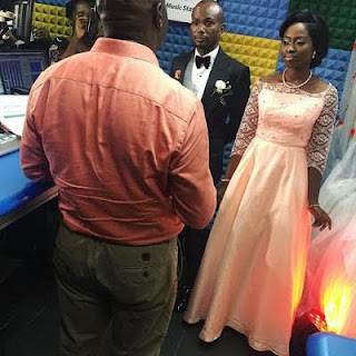 Photos from a wedding that took place on live radio at CoolFM today