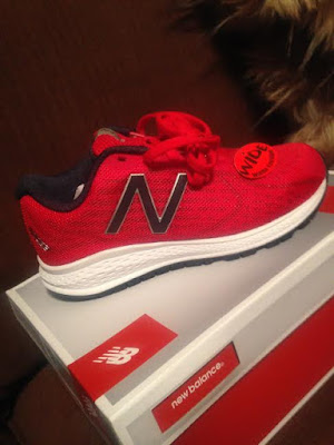 New Balance red kids sneakers