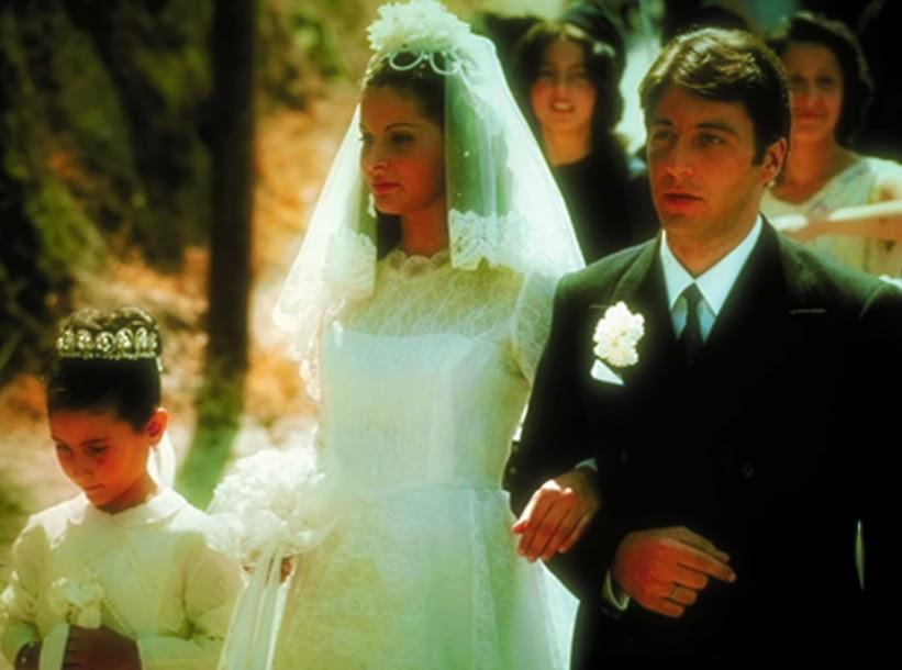 """Casamento de Apollonia (Simonetta Stefanelli) e Michael (Ao Pacino), em """"O Poderoso Chefão"""""""