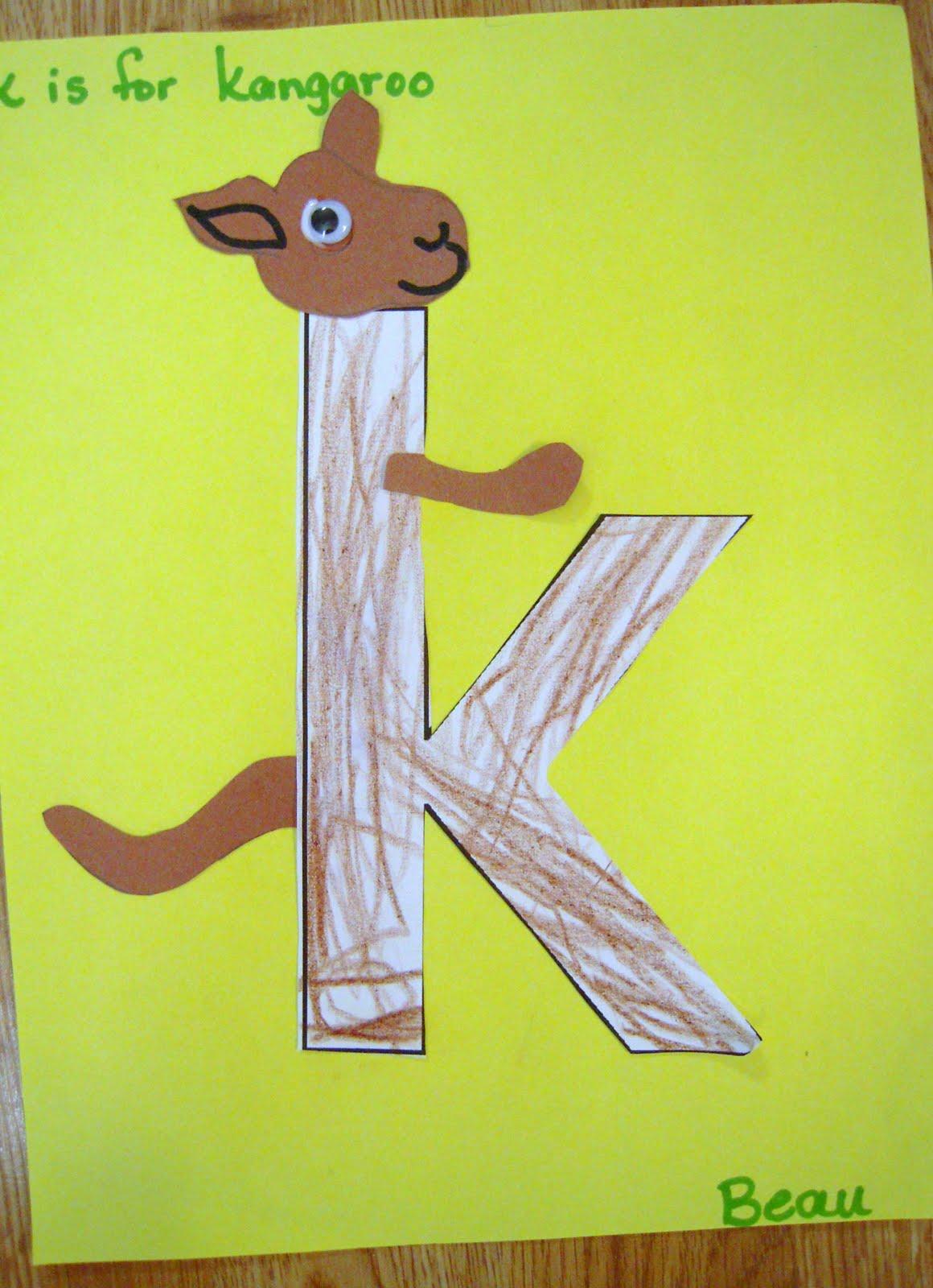 La La S Home Daycare Letter Kk Week