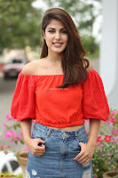 Rhea Chakraborty in Red Crop Top and Denim Shorts Spicy Pics ~  Exclusive 156.JPG
