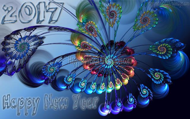 New Year 2017 3D Desktop Background