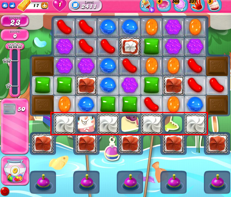Candy Crush Saga level 2411