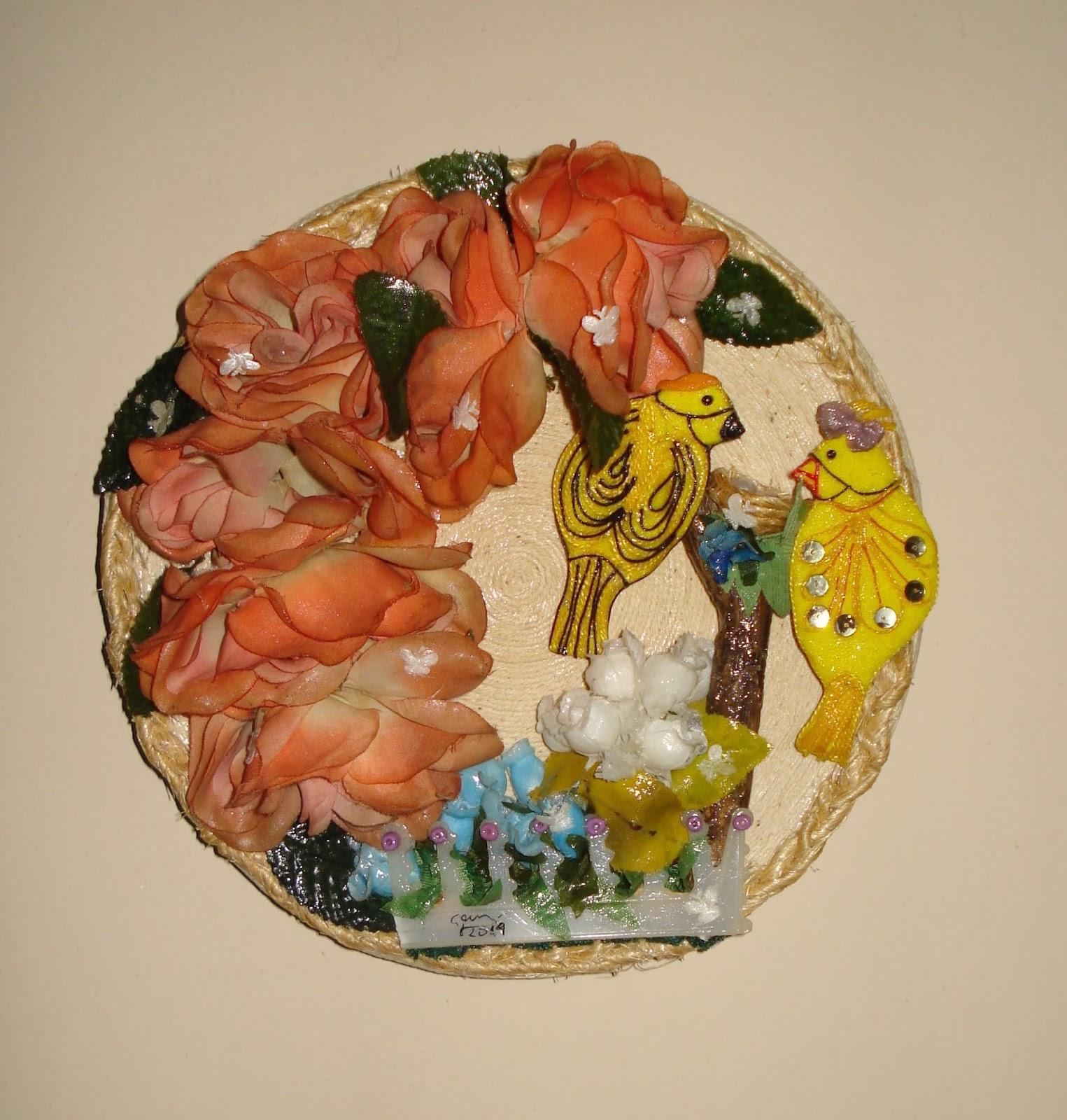 Creando Con Graciela Reciclado Plato Decorado Primavera