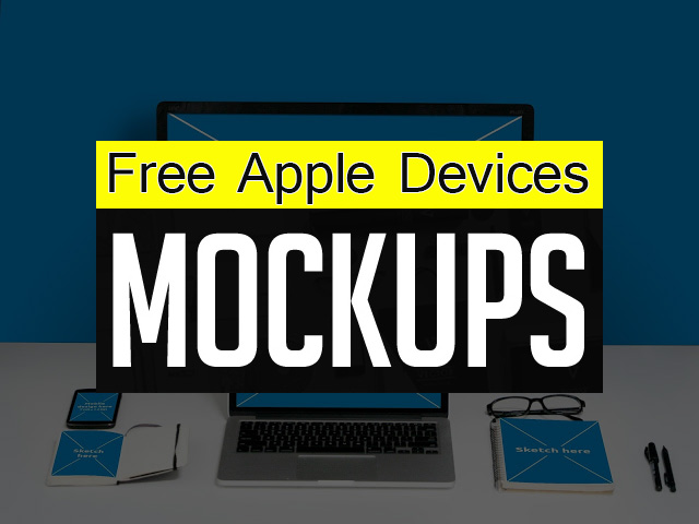 15 Free Apple Devices Mockup PSD Templates