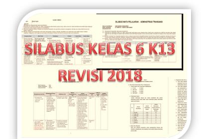 Silabus Kelas 6 Semester 2 Kurikulum 2013 Revisi 2018