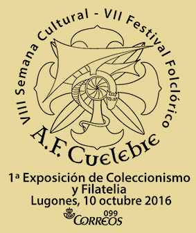 Matasellos A.F. Cuélebre en Lugones