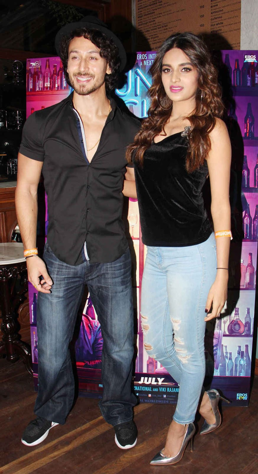 Tiger Shroff and Nidhhi Agerwal Attend Munna Michael Completion Party