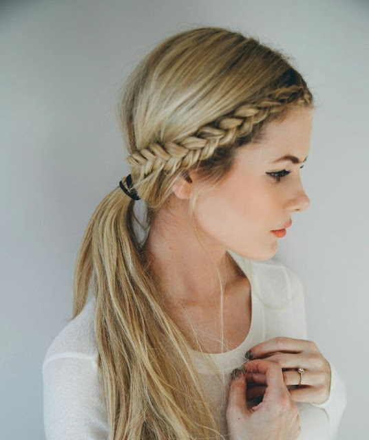 Front row braid  hairstyle