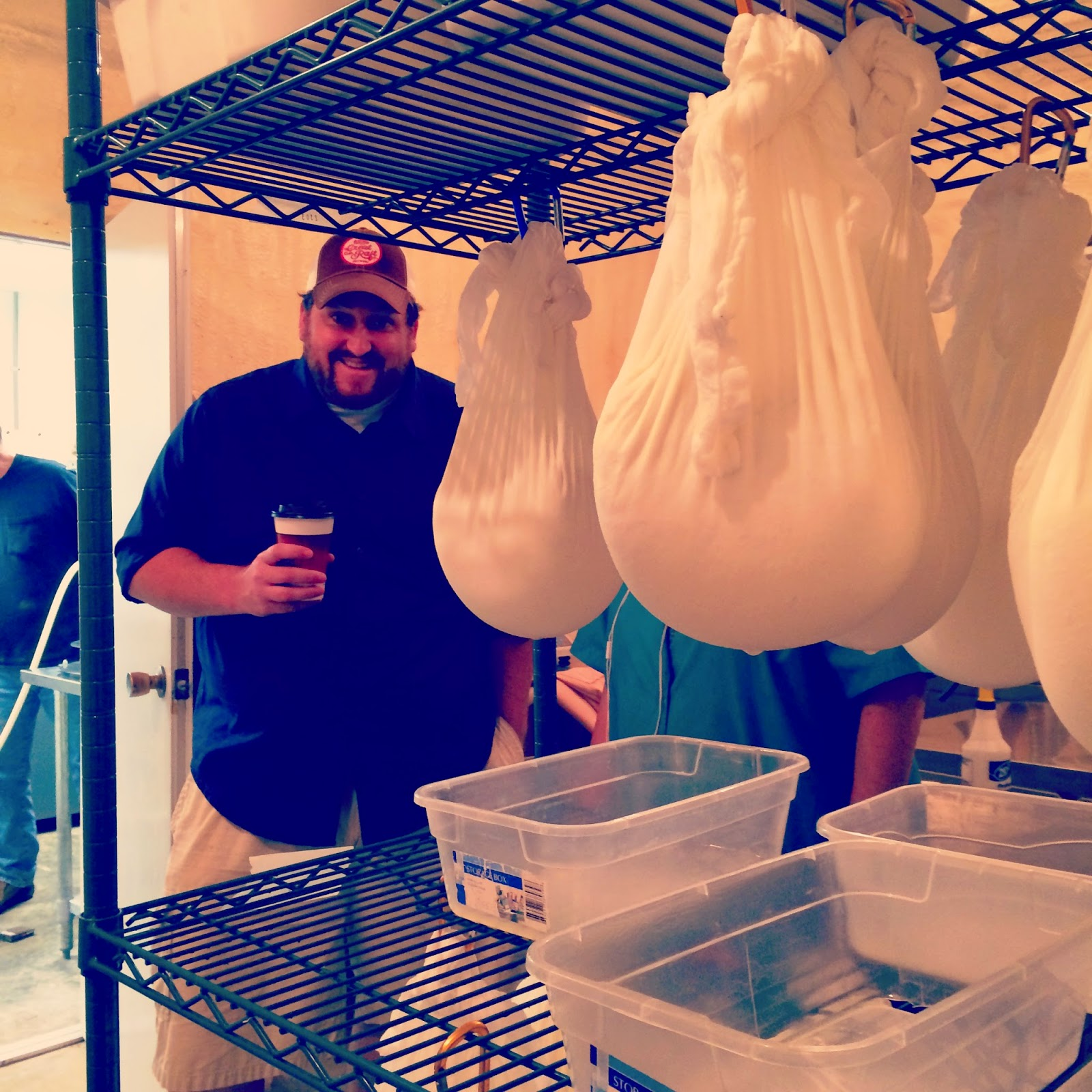 Jay Ducote checks out cheese curds at Wes Mar Farms