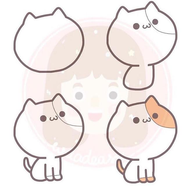 Cara menggambar kucing untuk anak-anak 1