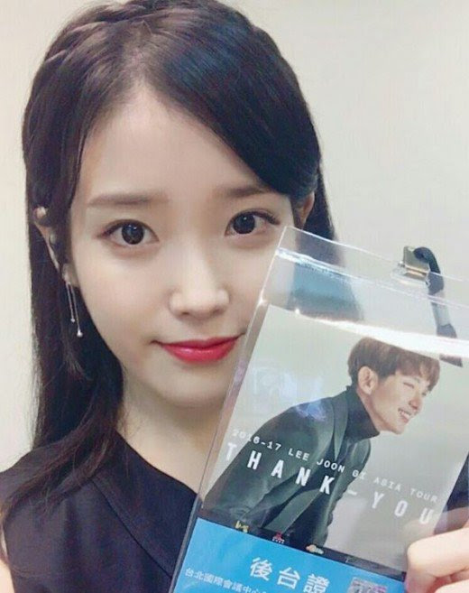 IU Hadiri Konser Lee Jun Ki
