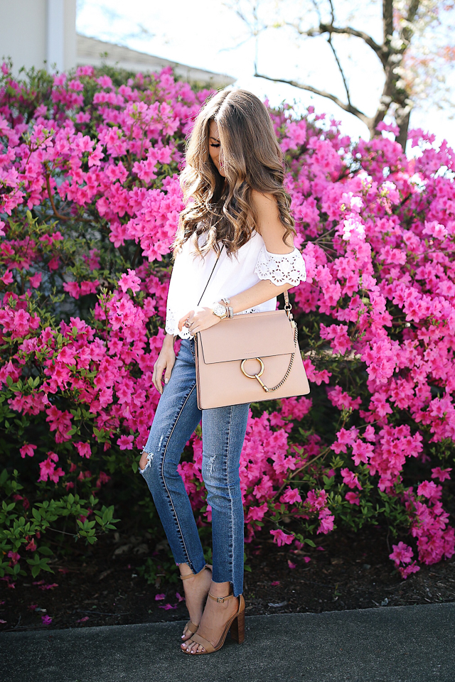classic spring inspiration. love the Chloe Faye handbag