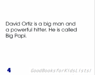 sample page #2 from DAVID ORTIZ: BASEBALL STAR by Ann Hoffman