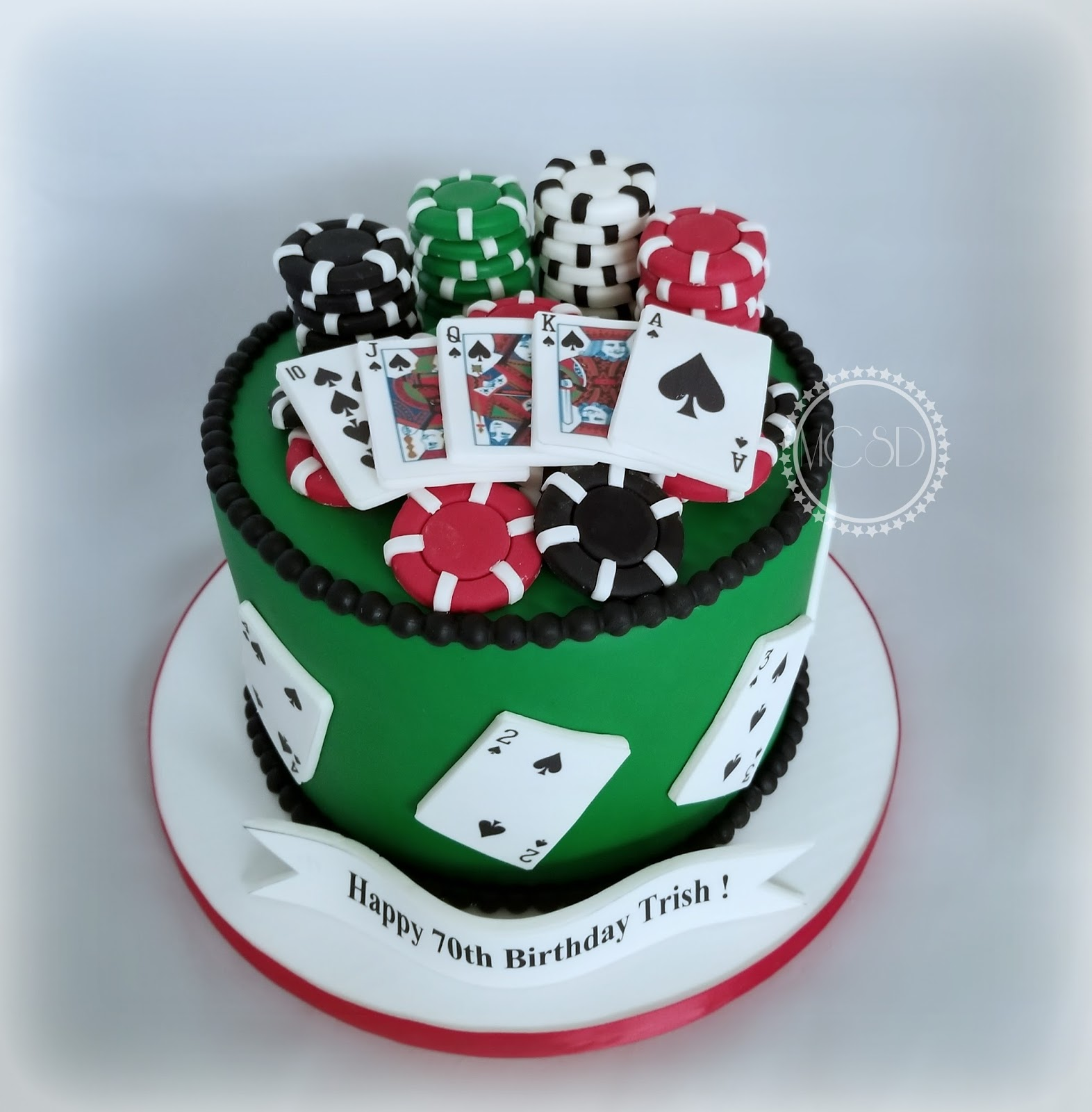 Miraculous Cakesbyzana Poker Themed Birthday Cake Funny Birthday Cards Online Unhofree Goldxyz
