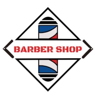 Pirulo rotador luminoso de barber shop con texto