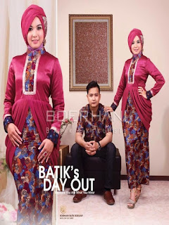 model baju batik pesta siang