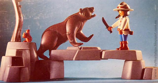 Playmobil 3830 Guardabosques India con Osos Ranger with Kodiak bears kodiakbären