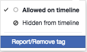 Remove Facebook tag