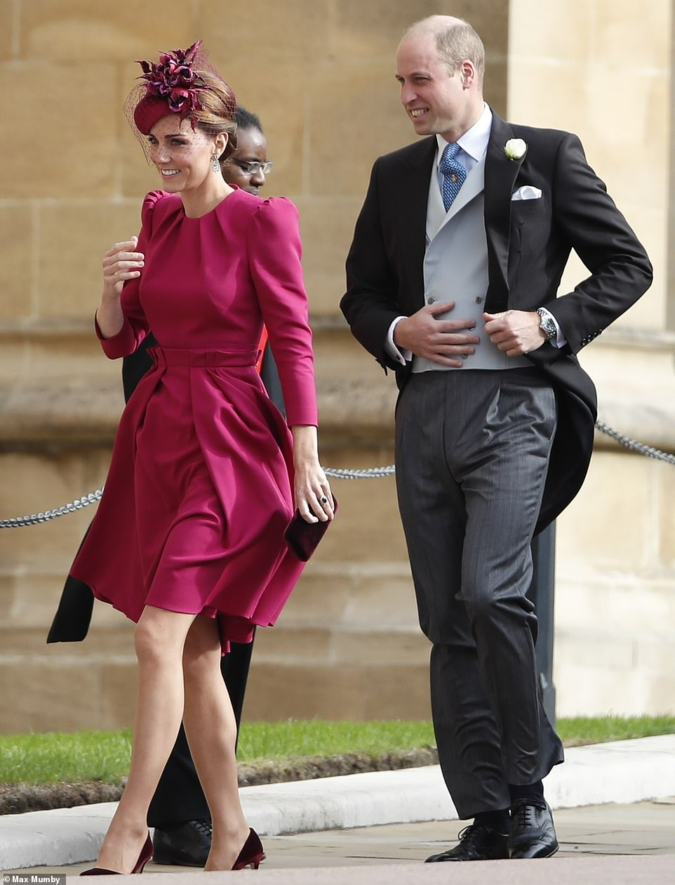 kate middleton puts legs on show at princess eugenies wedding