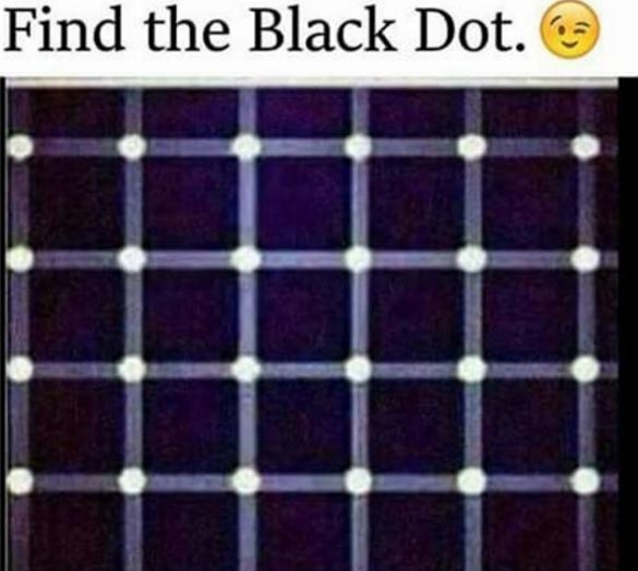 Puzzle: Can you find the black spot?