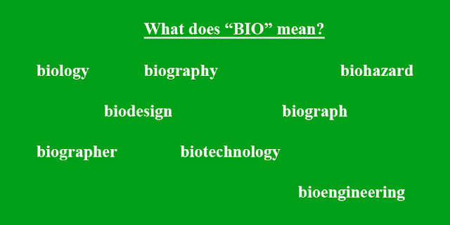 What does BIO mean?