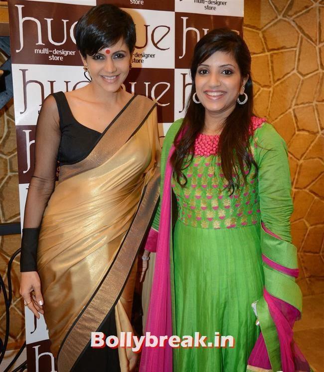Mandira Bedi with Mahima Bansal, Mandira Bedi & Kajal Aggarwal at HUE Store Launch