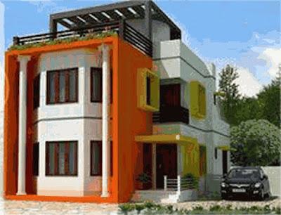desain rumah minimalis tampak depan 2 lantai modern