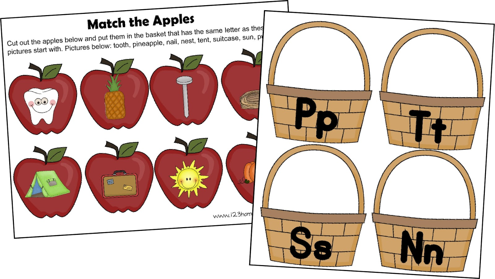 Free Letter A Apple Sort