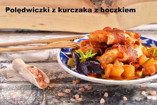 Polędwiczki z kurczaka z boczkiem dojrzewającym