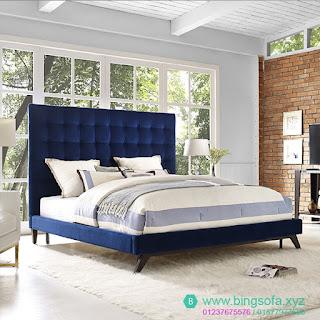 Giường bọc nệm vải nhung NỮ HOÀNG BIỂN