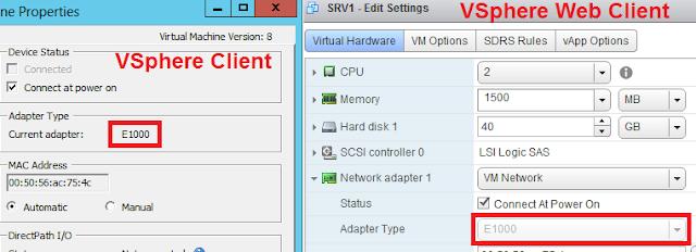 Vista tipo de adaptador virtual