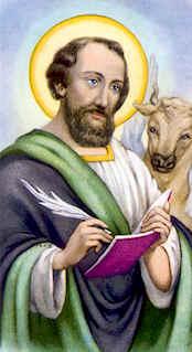 Dibujo de San Lucas escribiendo