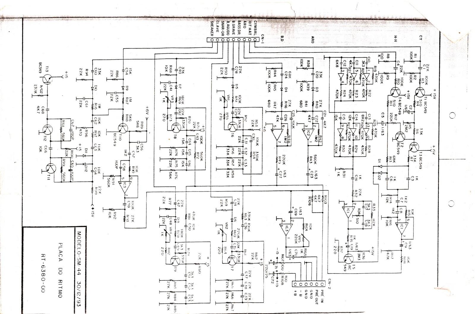Compsom Sononorização Ltda: Esquemas de Órgão eletronico