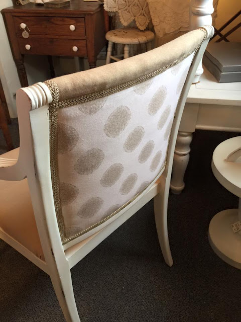 reupholstered accent chair