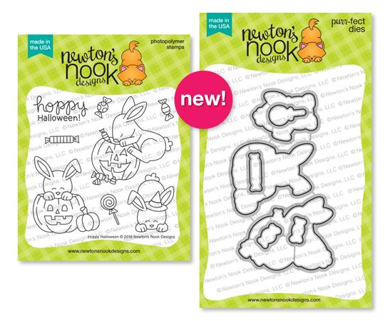 Hoppy Halloween Stamp and Die Set ©2018 Newtons Nook Designs