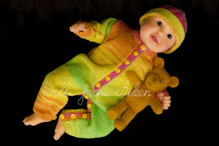 ooak hand sculpted baby doll with teddy bear