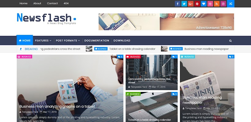 Newsflash Free Blogger Template