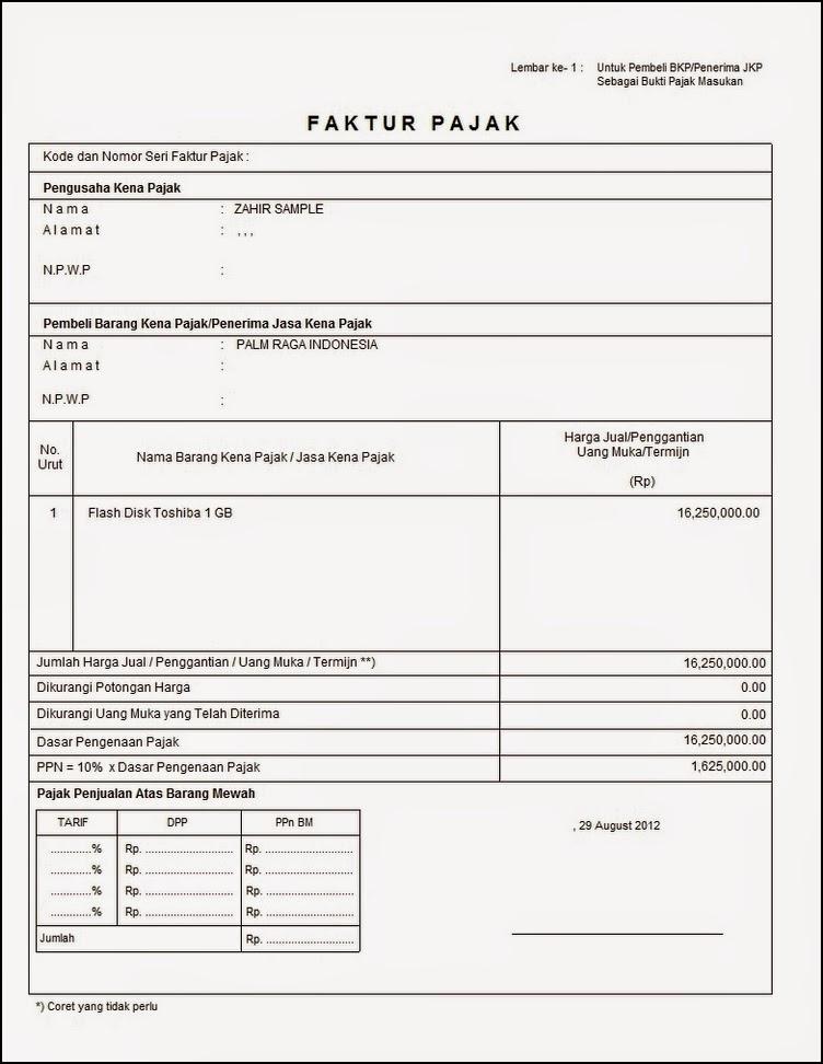 Pengertian Fungsi Dan Contoh Faktur 2019 Januari 2019 Pendaftaran