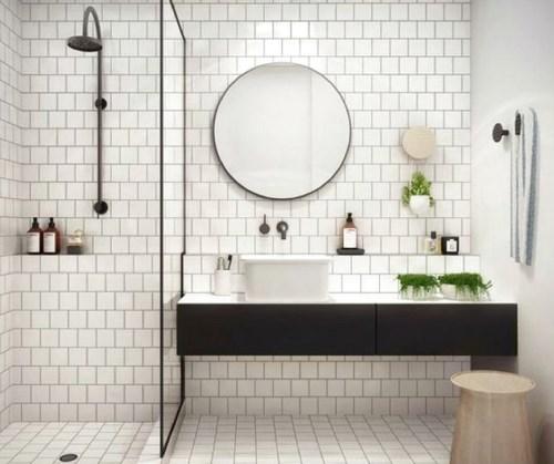 cermin kamar mandi Bentuk Lingkaran