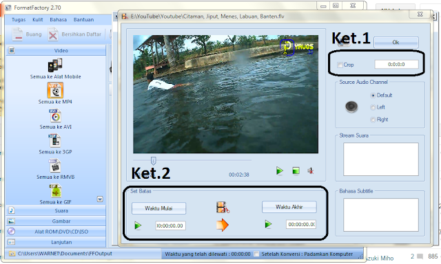 Cara Mengubah / Convert Format Video Ke Format SWF, FLV, MOV, VOB, MPG, MKV, MWV, GIF, RMVB, 3GP,  AVI, MPV