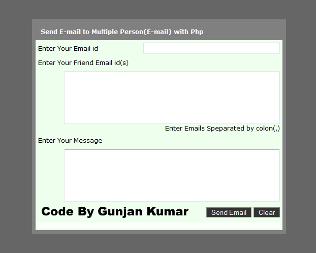 Send E-mail to Multiple Person(E-mail) with Php