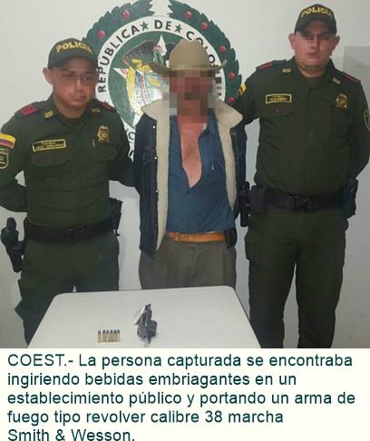 Capturado con arma de fuego en el Municipio de Cabrera.