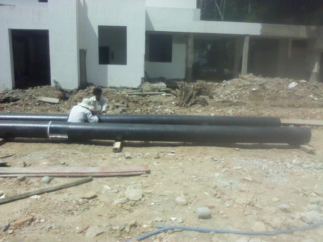 ống nhựa hdpe gân xoắn 2 vách thoát nước thải khu dân cư