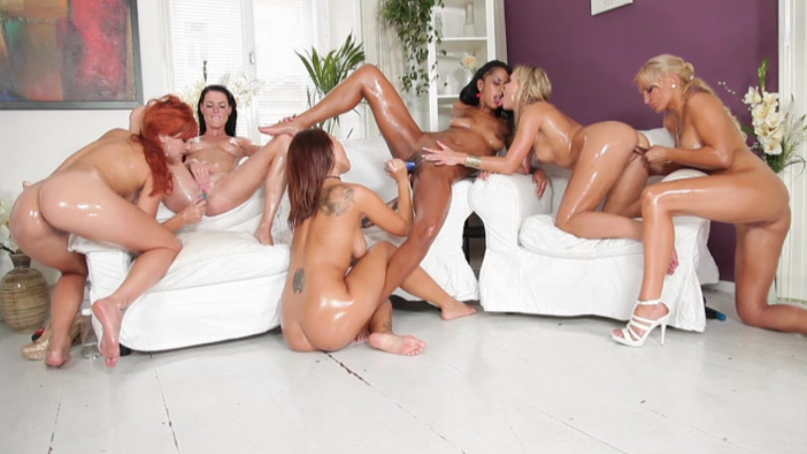 big booty lesbian orgy