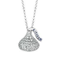 Whimsical sterling silver Swarovski Hershey Kiss from Howard's Jewelry Center