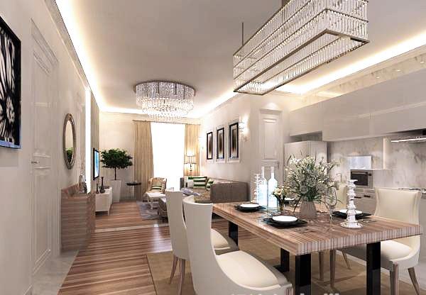 Home dining room interior model design free 3d max models