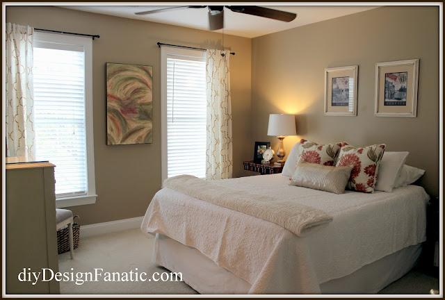 guest bedroom , guest bedroom makeover, makeover, reveal, diyDesignFanatic.com